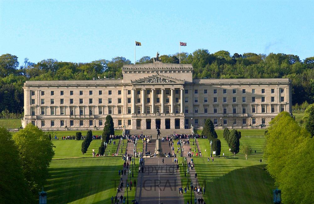 The Stormont Parliament Building in Belfast, Northern Ireland