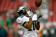 18 Jan 2009: Philadelphia Eagles wide receiver DeSean Jackson #10 catches a pass before the NFC Championship game against the Arizona Cardinals on January 18th, 2009. The Cardinals won 32-25 at University of Phoenix Stadium in Glendale, Arizona.