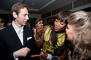 NICK KNIGHT; NAOMI CAMPBELL, Dinner hosted by editor of British Vogue, Alexandra Shulman in association with Net-A-Porter.com in honour of 25 years of London Fashion Week and Nick Knight. Caprice. London.  September 21, 2009