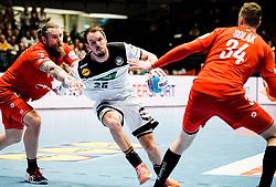 22.01.2020, Wiener Stadthalle, Wien, AUT, EHF Euro 2020, Deutschland vs Tschechien, Hauptrunde, Gruppe I, im Bild v. l. Pavel Horak (CZE), Kai Haefner (GER), Dominik Solak (CZE) // f. l. Pavel Horak (CZE) Kai Haefner (GER) Dominik Solak (CZE) during the EHF 2020 European Handball Championship, main round group I match between Germany and Czech Republic at the Wiener Stadthalle in Wien, Austria on 2020/01/22. EXPA Pictures © 2020, PhotoCredit: EXPA/ Florian Schroetter