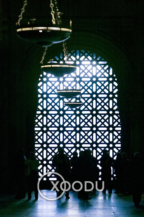 Mezquita (mosque) silhouettes, Cordoba, Spain (January 2007)