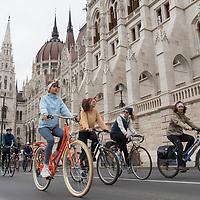 I Bike Budapest biker demonstration