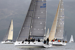 The Clyde Cruising Club's Scottish Series held on Loch Fyne by Tarbert. .Day 3 racing initially postponed awaiting  a light southerly...IRC Classes with GBR8038R ,Roxstar ,Jonathan Anderson, CCC ,XP38i