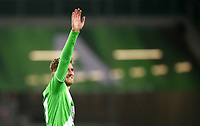 Fotball<br /> Tyskland<br /> 07.02.2015<br /> Foto: Witters/Digitalsport<br /> NORWAY ONLY<br /> <br /> Schlussjubel Andre Schuerrle (Wolfsburg)<br /> Fussball Bundesliga, VfL Wolfsburg - TSG 1899 Hoffenheim 3:0