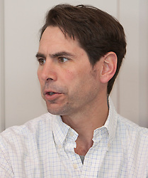 © Licensed to London News Pictures. 05/04/2012. London, U.K..Richard Phelps, Boat race umpire, at The Xchanging Oxford & Cambridge University Boat Race - press conference. The crews meet the press to discuss the boat race on saturday 7th April...Photo credit : Rich Bowen/LNP