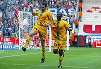 Fotball<br /> Frankrike 2004/05<br /> Nantes v Olympique Marseille<br /> 23. april 2005<br /> Foto: Digitalsport<br /> NORWAY ONLY<br /> OLIVIER QUINT / MAMADOU DIALLO (NAN) *** Local Caption *** 40001617