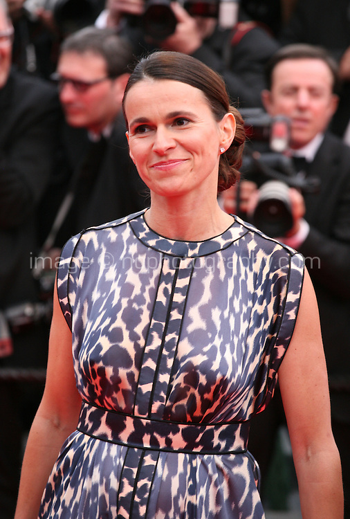 Aurélie Filippetti at the the Grace of Monaco gala screening and opening ceremony red carpet at the 67th Cannes Film Festival France. Wednesday 14th May 2014 in Cannes Film Festival, France.