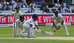 July 7, 2017 - London, United Kingdom - Temba Bavuma of South Africa .during 1st Investec Test Match between England and South Africa at Lord's Cricket Ground in London on July 07, 2017  (Credit Image: © Kieran Galvin/NurPhoto via ZUMA Press)