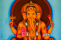 Statue of Ganesh, the Elephant Headed God, Tangalle, Southern Province, Sri Lanka.