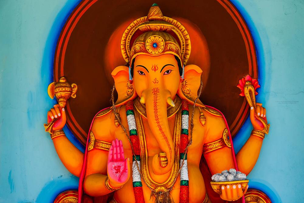 Statue of Ganesh, the Elephant Headed God, Tangalle, Southern Province, Sri Lanka.