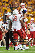 WACO, TX - SEPTEMBER 2:  Stephen Calvert #12 of the Liberty Flames celebrates after scoring a touchdown against the Baylor Bears during a football game at McLane Stadium on September 2, 2017 in Waco, Texas.  (Photo by Cooper Neill/Getty Images) *** Local Caption *** Stephen Calvert
