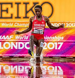09-08-2017 IAAF World Championships Athletics day 6, London<br /> 3000 m steeple 2 heat met Ruth Jebet BRN