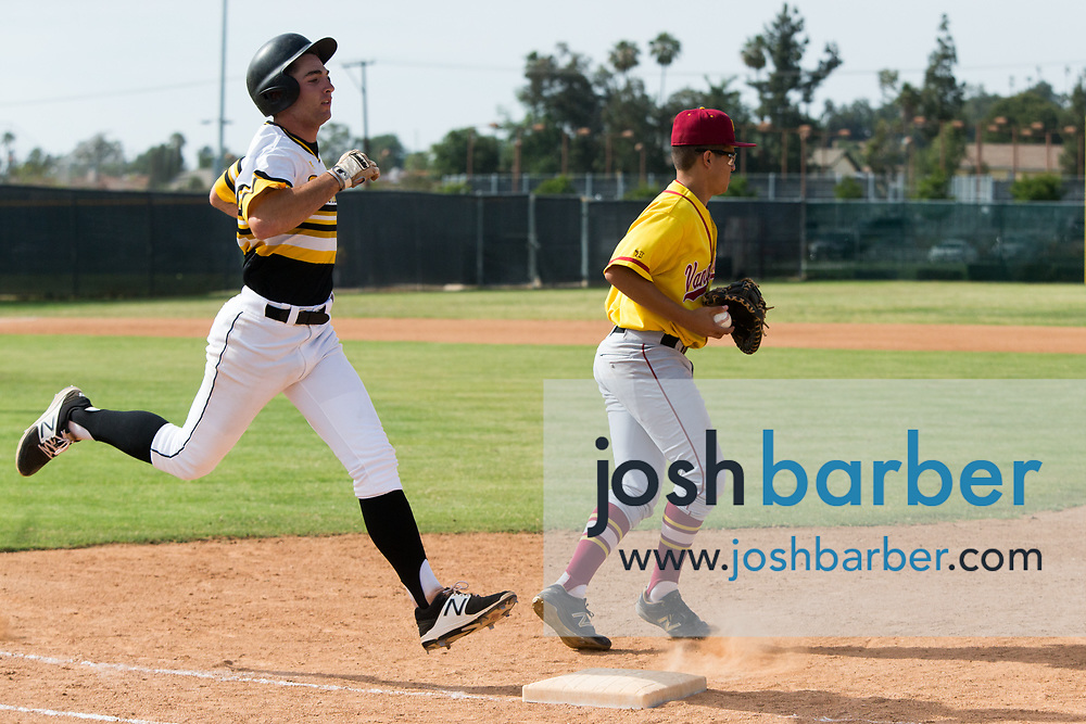 Foothill's Kyle Ashworth during a Crestview League game at Foothill High School on Friday, May 5, 2017 in North Tustin, Calif. Foothill won 4-2. (Photo by Josh Barber, Contributing Photographer)