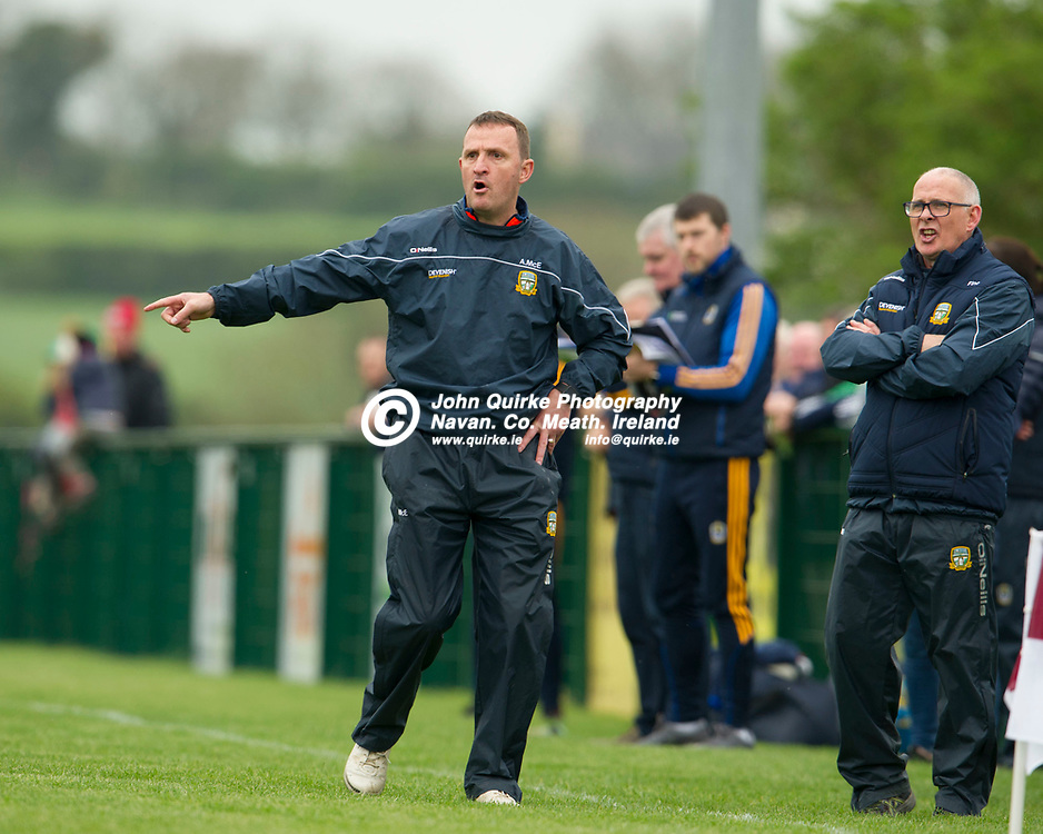 28- 04-19. Meath v Roscommon - Senior Football Challenge at the Grand Opening of Masterson Park, St. Vincent's GAA Club, Ardcath. Co. Meath.<br /> Andy McEntee, Meath Manager.<br /> Photo: John Quirke / www.quirke.ie<br /> ©John Quirke Photography, Unit 17, Blackcastle Shopping Cte. Navan. Co. Meath. 046-9079044 / 087-2579454.