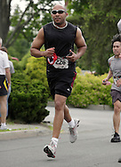 Middletown, New York - Runners race to the finish line in the 15th annual Ruthie Dino Marshall 5K Run and Fun Walk hosted by the Middletown YMCA on Sunday, June 5, 2011. ©Tom Bushey / The Image Works