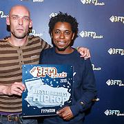 NLD/Utrecht/20150409 - Uitreiking 3FM Awards 2015, Typhoon met zijn award