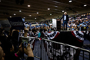 Democratic Presidential hopeful Sen. Bernie Sanders (D-VT) leaves the stage after speaking at a campaign rally at Virginia Wesleyan University in Norfolk, VA, USA, 29 February 2020. The rally comes ahead of Super Tuesday and just after the polls closed in the South Carolina democratic primaries where early reporting has Sen. Sanders coming in second behind former US Vice President Joe Biden.