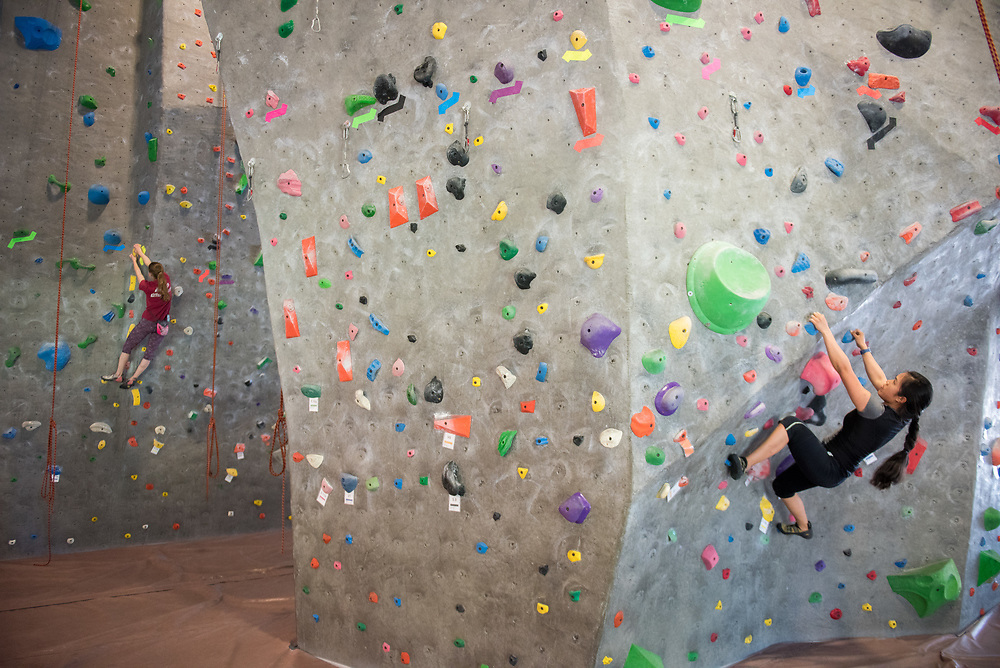 Stanford, Ca - Tuesday, May 30, 2017: Rock Climbing Class.