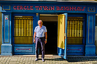 France, Pyrénées-Atlantiques (64), Bayonne, la Pena du cercle Taurin Bayonnais, le président Philippe Ducasse // France, Pyrénées-Atlantiques (64), Bayonne,