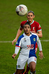 BIRKENHEAD, ENGLAND - Sunday, March 28, 2021: Blackburn Rovers' captain Saffron Jordan during the FA Women's Championship game between Liverpool FC Women and Blackburn Rovers Ladies FC at Prenton Park. The game ended in a 1-1 draw. (Pic by David Rawcliffe/Propaganda)