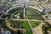 Nederland, Zuid-Holland, Zoetermeer, 19-09-2009; watertoren De Tien Gemeenten aan de Derde Stationsstraat in de wijk Rokkeveen.historical water tower in the neighbourhood Rokkeveen.luchtfoto (toeslag), aerial photo (additional fee required).foto/photo Siebe Swart