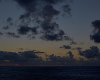 Pacific Ocean Sunset from the MV World Odyssey. Fuji X-T1 camera and 35 mm f/1.4 lens (ISO 800, 35 mm, f/16, 1/250 sec).