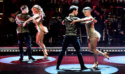 Nadiya Bychkova, Giovanni Pernice, Karen Clifton and Gorka Marquez attending the Strictly Come Dancing Professionals UK Tour at Elstree Studios, London.