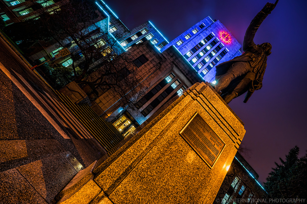 Statue of Captain George Vancouver @ City Hall