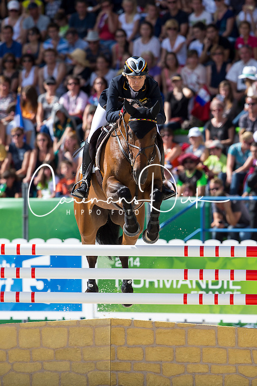 Ingrid Klimke, (GER), FRH Escada JS - Jumping Eventing - Alltech FEI World Equestrian Games™ 2014 - Normandy, France.<br /> © Hippo Foto Team - Leanjo De Koster<br /> 31-08-14