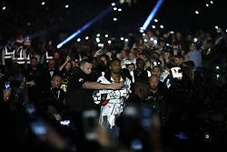 Anthony Joshua arrives for the IBF World Heavyweight Title, IBO World Heavyweight Title and WBA Super World Heavyweight Title bout at the Principality Stadium, Cardiff.