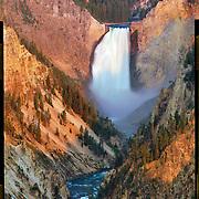 Lower Yellowstone Falls, Yellowstone National Park. 4x5 Kodak Ektar 100. <br /> photo by Nathan Lambrecht