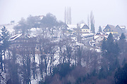 Easter in Southern Styria, Austria. Kitzeck in the snow.