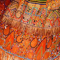 Africa, Tanzania, Karatu. Iraqw Beaded Wedding Dress