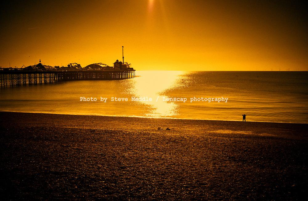 Brighton Pier and Beach, Sussex, Britain