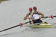 Munich, GERMANY, 2006, FISA, Rowing, World Cup, USA W2- Bow, Megan Cooke and Anna Michelson,  held on the Olympic Regatta Course, Munich, Thurs. 25.05.2006. © Peter Spurrier/Intersport-images.com,  / Mobile +44 [0] 7973 819 551 / email images@intersport-images.com.[Mandatory Credit, Peter Spurier/ Intersport Images] Rowing Course, Olympic Regatta Rowing Course, Munich, GERMANY