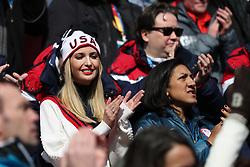 PYEONGCHANG, Feb. 25, 2018  Ivanka Trump (1st L), U.S. President Donald Trump's daughter, watches the 4-man event of bobsleigh at the 2018 PyeongChang Winter Olympic Games at Olympic Sliding Centre, PyeongChang, South Korea, Feb. 25, 2018. (Credit Image: © Bai Xuefei/Xinhua via ZUMA Wire)