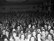 15/05/1959<br /> 05/15/1959<br /> 15 May 1959<br /> Gael Linn Competition at Listowel, Co. Kerry. Picture shows a section of the large attendance at the concert and competition.