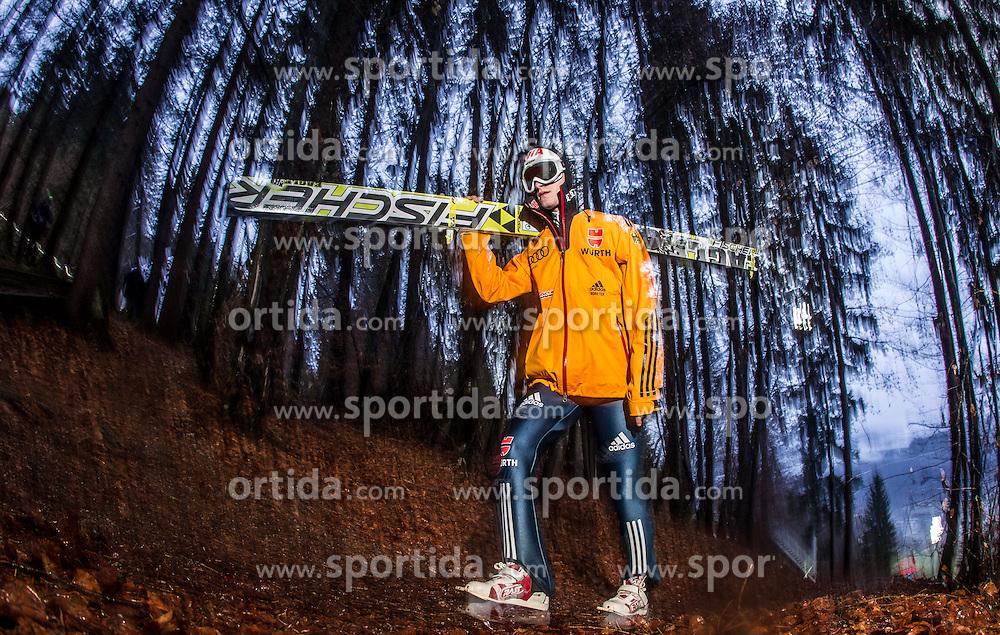 05.01.2014, Paul Ausserleitner Schanze, Bischofshofen, AUT, FIS Ski Sprung Weltcup, 62. Vierschanzentournee, Qualifikation, im Bild Marinus Kraus (GER) // Marinus Kraus (GER) during qualification Jump of 62nd Four Hills Tournament of FIS Ski Jumping World Cup at the Paul Ausserleitner Schanze, Bischofshofen, Austria on 2014/01/05. EXPA Pictures © 2014, PhotoCredit: EXPA/ JFK