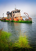 "Shipwreck ""Mary D Hume"" in Gold Beach, Oregon"