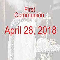 St Catherine of Siena Norwood MA First Communion celebration on April 28, 2018, at 4:00 PM