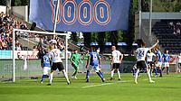 Fotball Tippeligaen Rosenborg - Start<br /> 10 august 2014<br /> Lerkendal Stadion, Trondheim<br /> <br /> Mikkel Mix Diskerud ( I bakgrunnen ) scorer 1-0 for Rosenborg. Nr 24 Stefan Strandberg strekker armen i været for å signalisere scoring<br /> <br /> <br /> Foto : Arve Johnsen, Digitalsport