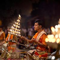 Ganga Aarti takes place everyday at dusk at Dashashwamedh Ghat