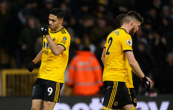 Wolverhampton Wanderers' Raul Jimenez celebrates scoring his side's first goal of the game during the Premier League match at Molineux, Wolverhampton.