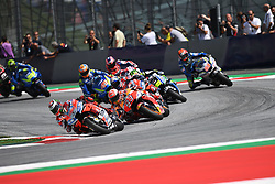 August 12, 2018 - Spielberg, Austria - MotoGP start race during of Austrian MotoGP grand prix in Red Bull Ring in Spielberg, Austria, on August 12, 2018. (Credit Image: © Andrea Diodato/NurPhoto via ZUMA Press)