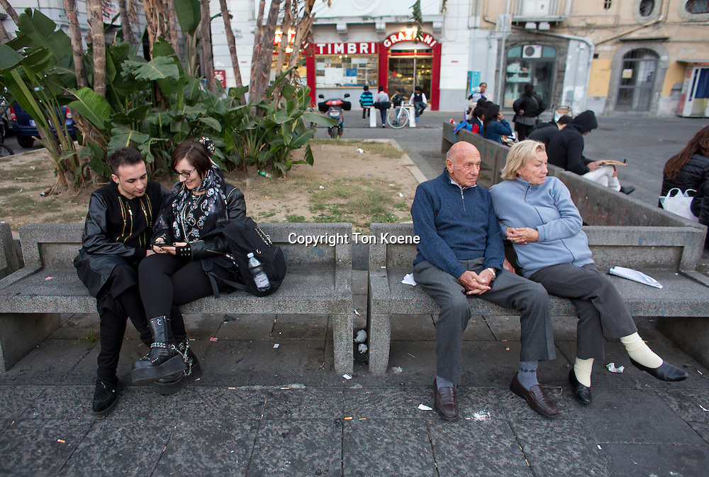old and young couple in naples