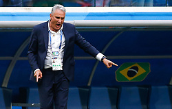 June 22, 2018 - SãO Petersburgo, Rússia - SÃO PETERSBURGO, MO - 22.06.2018: BRAZIL VS. COSTA RICA - Brazil coach Tite is thrilled after Neymar Jr. of Brazil scores a goal during a match between Brazil and Costa Rica for the second round of Group E of the 2018 World Cup held at the Krestovsky Stadium in St Petersburg, Russia. (Credit Image: © Marcelo Machado De Melo/Fotoarena via ZUMA Press)