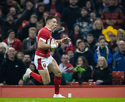 Josh Adams of Wales<br /> <br /> Photographer Simon King/Replay Images<br /> <br /> Friendly - Wales v Barbarians - Saturday 30th November 2019 - Principality Stadium - Cardiff<br /> <br /> World Copyright © Replay Images . All rights reserved. info@replayimages.co.uk - http://replayimages.co.uk