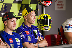 June 8, 2017 - Barcelona, Spain - MotoGP, Valentino Rossi(Ita), Movistar Yamaha Motogp Team (C) during the press conference of MotoGp Grand Prix Monster Energy of Catalunya, in Barcelona-Catalunya Circuit, Barcelona on 8th June 2017 in Barcelona, Spain. (Credit Image: © Urbanandsport/NurPhoto via ZUMA Press)