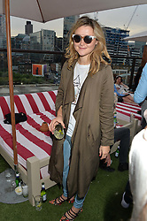 AMBER ATHERTON at the Warner Music Group & GQ Summer Drinks hosted in asociation with Quintessentially at Shoreditch House, Ebor Street, London on 6th July 2016.