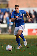 Lee Brown of Portsmouth in action during the The FA Cup 1st round match between Maidenhead United and Portsmouth at York Road, Maidenhead, United Kingdom on 10 November 2018.